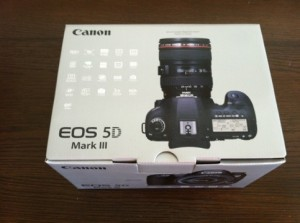 Canon 5d mark III unboxing