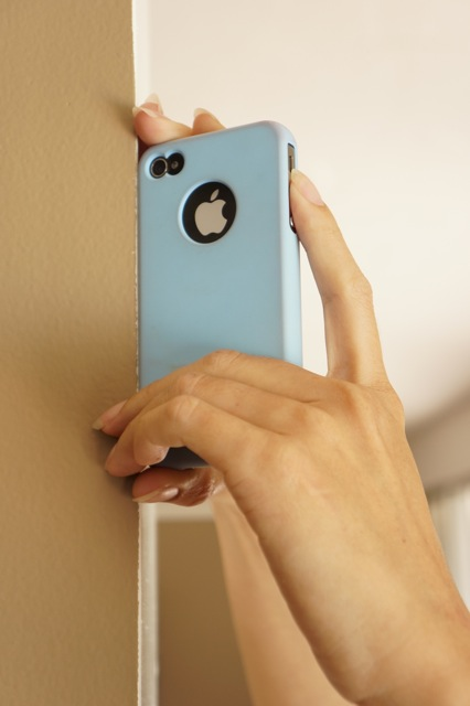 Anchor your iphone to a wall