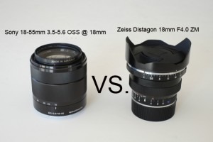 Sony 18-55mm F3.5 OSS vs. Zeiss Distagon 18mm F4.0 ZM