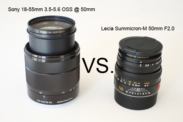 Sony 18-55mm F3.5-5.6 OSS @ 50mm vs. Leica Summicron-M 50mm F2.0