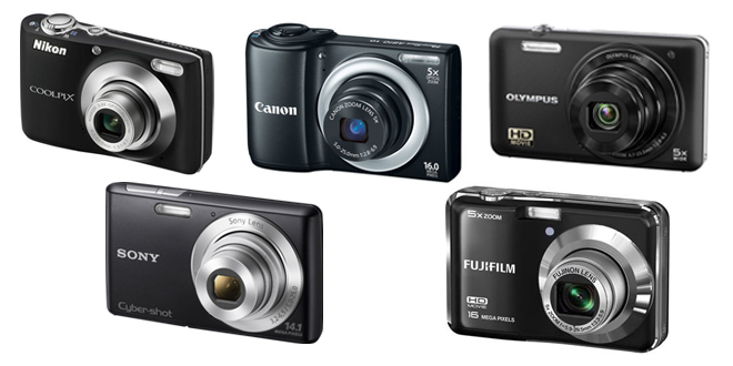 Group Image: Top 5 Point and Shoot Cameras for Mom under $100